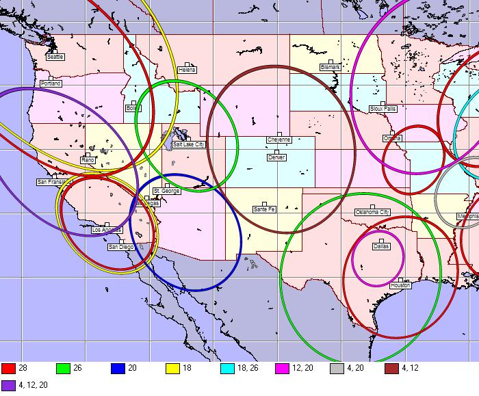 DTV Spots Map on